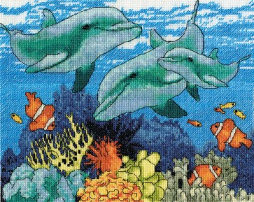 DMC Cross Stitch Kit - Polyanna Pickering - Dolphins