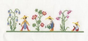 DMC Counted Cross Stitch Kit - Bluebell Garden Bookmark