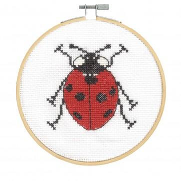 DMC Counted Cross Stitch Kit - Seven Spot Ladybird