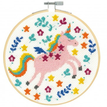 DMC Counted Cross Stitch Kit - Folk Unicorn