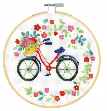 DMC Counted Cross Stitch Kit - Floral Bicycle