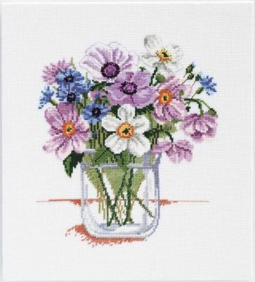 DMC Cross Stitch Kit - Florals - Bunch of Anemones
