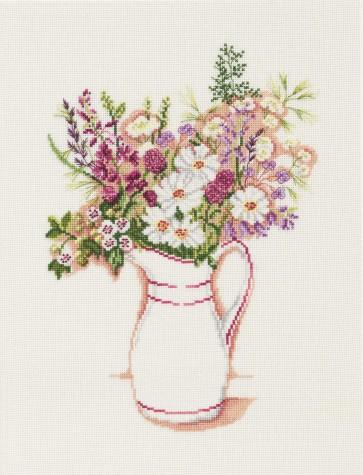 DMC Cross Stitch Kit - Florals - Country Floral Bouquet