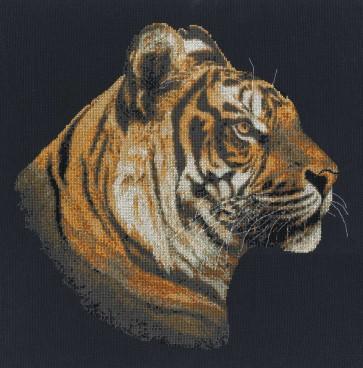 DMC Cross Stitch Kit - Polyanna Pickering - Tiger In Profile
