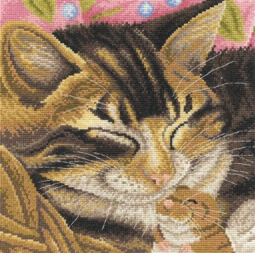 DMC Cross Stitch Kit - Cats - Cat And Mouse