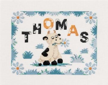 DMC Cross Stitch Kit - Childrens - Cow Birth Sampler