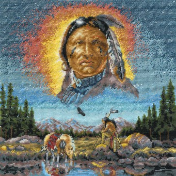 DMC Cross Stitch Kit - Kings And Queens - Chief Eagle Spirit