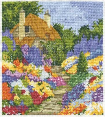 DMC Cross Stitch Kit - Countryside - Cottage Steps