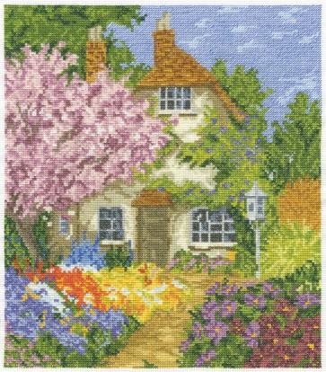 DMC Cross Stitch Kit - Countryside - Cottage Garden