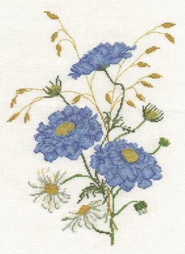 DMC Cross Stitch Kit - Florals - Scabious