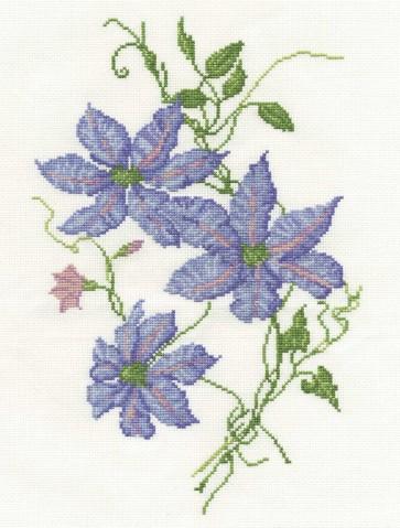 DMC Cross Stitch Kit - Florals - Clematis