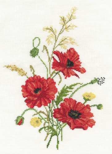 DMC Cross Stitch Kit - Florals - Poppies