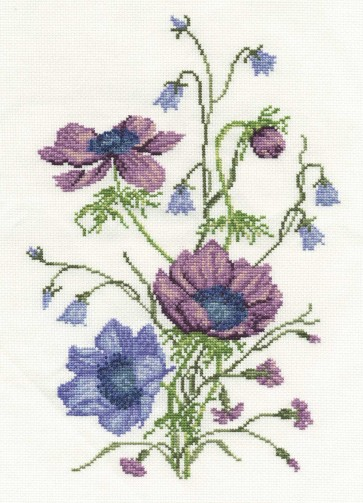 DMC Cross Stitch Kit - Florals - Anemonies