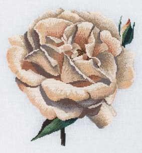 DMC Cross Stitch Kit - Florals - Peach Rose