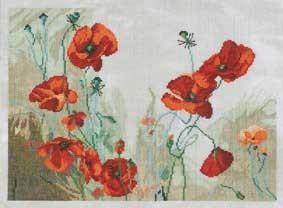 DMC Cross Stitch Kit - Florals - Poppy Cycle