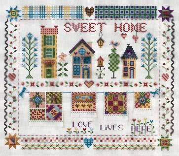 DMC Cross Stitch Kit - Nostalgia - Sweet Home Patch