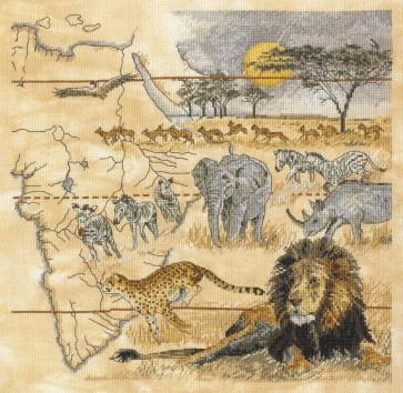 DMC Cross Stitch Kit - Pollyanna Pickering - African Heartlands