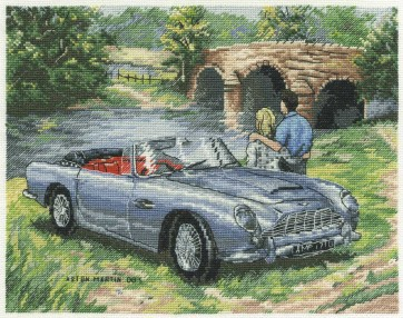 DMC Cross Stitch Kit - Trains, Cars and Boats - Aston Martin DB5