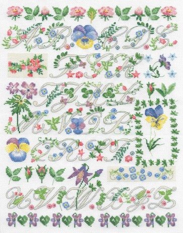 DMC Cross Stitch Kit - Floral Samplers - Botanical Sampler