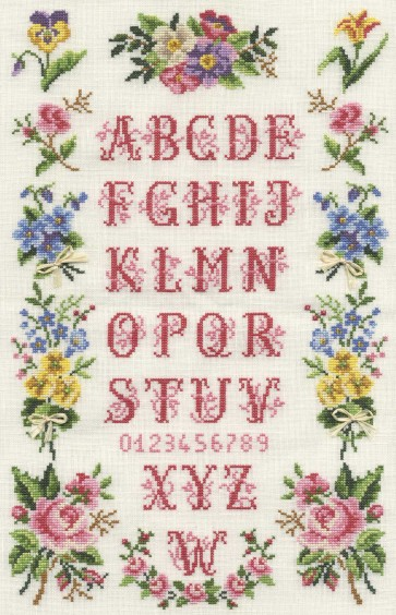 DMC Cross Stitch Kit - Floral Samplers - Bunches Sampler