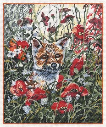 DMC Cross Stitch Kit - Countryside - Fox in Poppies