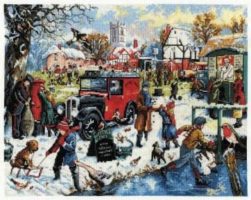 DMC Cross Stitch Kit - Kevin Walsh - Winter On The Green