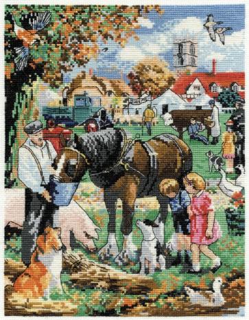 DMC Cross Stitch Kit - Nostalgia - Feeding The Horse