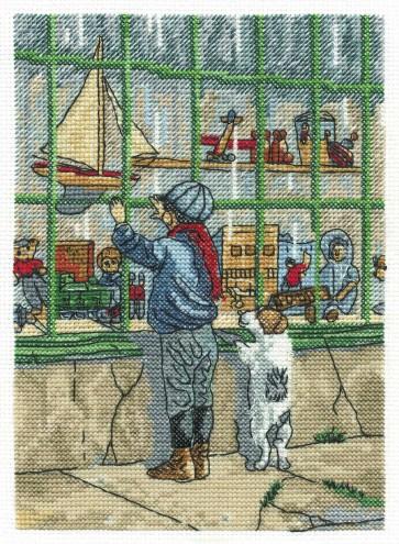 DMC Cross Stitch Kit - Nostalgia - The Toy Shop Window