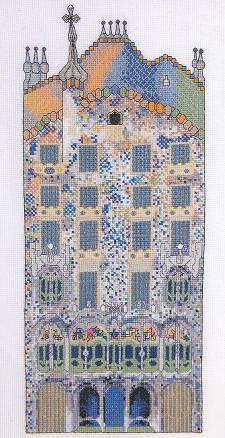 DMC Cross Stitch Kit - Architecture - Gaudi - Casa Batllo