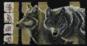 DMC Cross Stitch Kit - Pollyanna Pickering - I am Wolf
