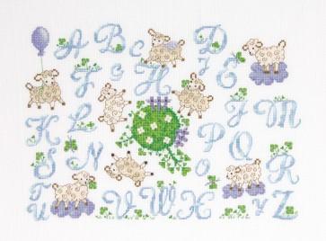 DMC Cross Stitch Kit - Childrens - Little Sheep ABC