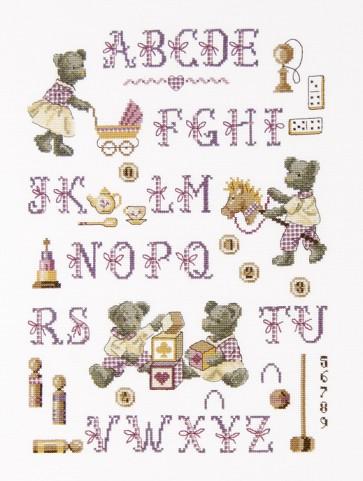 DMC Cross Stitch Kit - Funny Bear - Funny Bears ABC