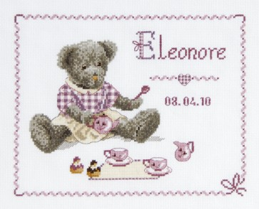 DMC Cross Stitch Kit - Funny Bear - Funny Bears First Name Sampler