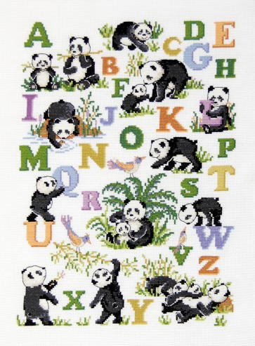 DMC Cross Stitch Kit - Childrens - Panda ABC