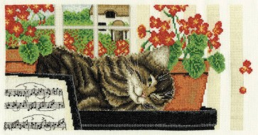 DMC Cross Stitch Kit - Anne Mortimer's Cats - On The Look Out!