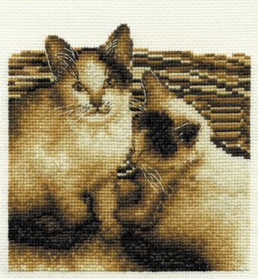 DMC Cross Stitch Kit - Cats - Best Of Friends!