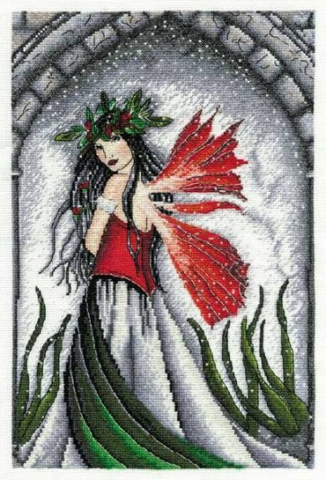 DMC Cross Stitch Kit - The Enchanted World of Faerywoods - Bridal Christmas Fairy