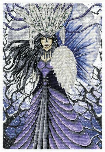 DMC Cross Stitch Kit - The Enchanted World of Faerywoods - Snow Queen Fairy