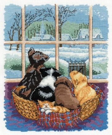 DMC Cross Stitch Kit - The Chrissie Snelling's Collection - Winter Wonderland