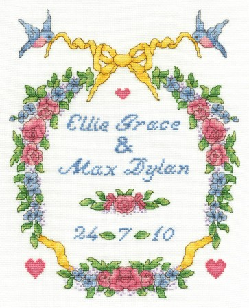 DMC Cross Stitch Kit - Michaella Learner - Wedding Garland Sampler