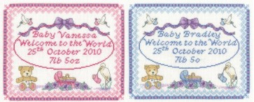 DMC Cross Stitch Kit - New Births - Baby Birth Sampler