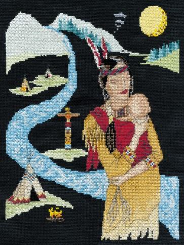 DMC Cross Stitch Kit - Native Indian