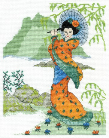 DMC Cross Stitch Kit - Geisha Girl