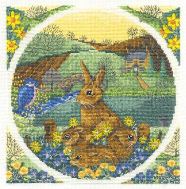 DMC Cross Stitch Kit - Countryside - Spring Watch