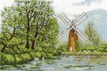 DMC Cross Stitch Kit - Landscapes - Hunsett Mill