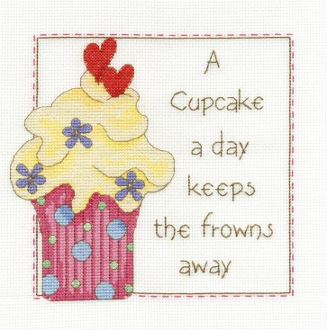 DMC Cross Stitch Kit - Sampler - A Cupcake A Day Sampler
