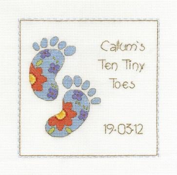 DMC Cross Stitch Kit - Sampler - Ten Tiny Toes Sampler