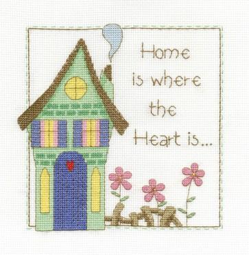 DMC Cross Stitch Kit - Sampler - Home Is Where The Heart Is Sampler
