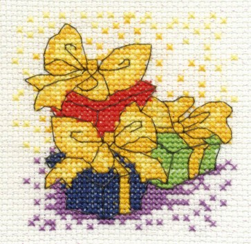 DMC Cross Stitch Kit - Mini Christmas Kit - Presents