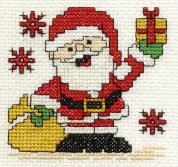 DMC Cross Stitch Kit - Mini Christmas Kit - Santa